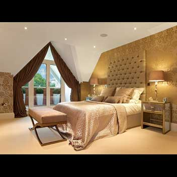 Luxurious bedroom suite upholstery