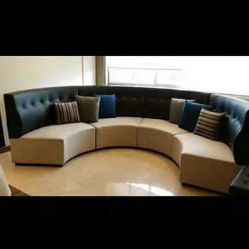 circular wooden frame of sofa New