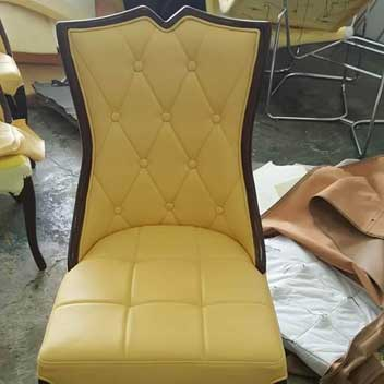 classic yellow chair upholstery