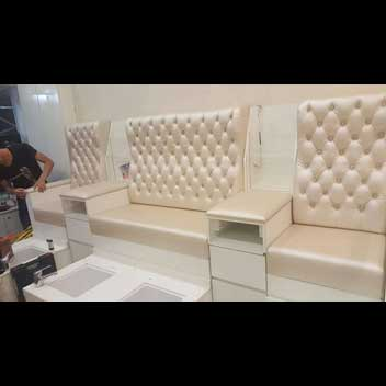 manicure pedicure seat upholstery