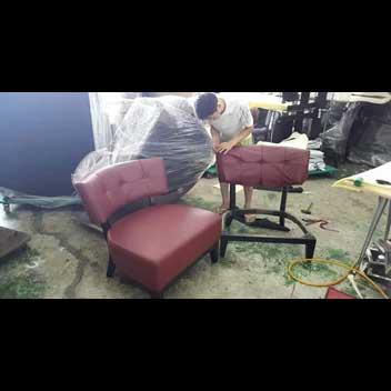 starting work on sofa reupholstery