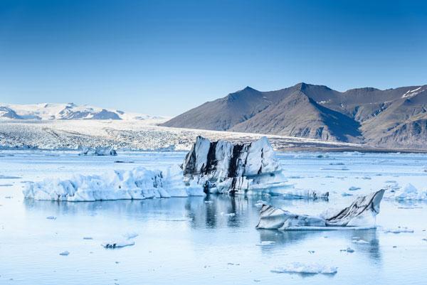 Melting glacier on the ocean